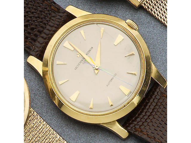 Vacheron & Constantin. An 18ct gold automatic wristwatch with certificatecirca 1958