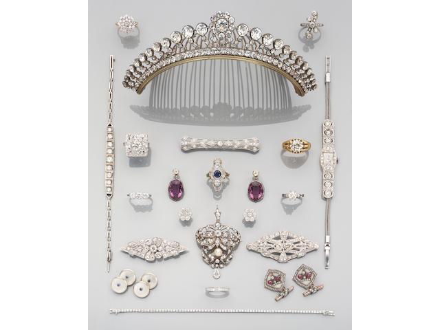 A 19th century paste tiara
