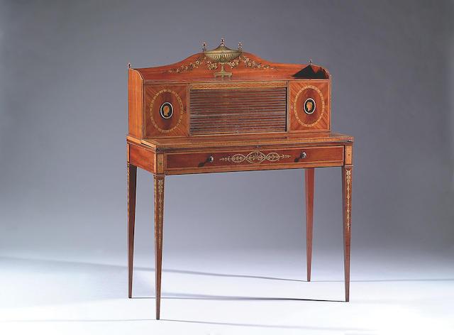 A George III mahogany writing table,
