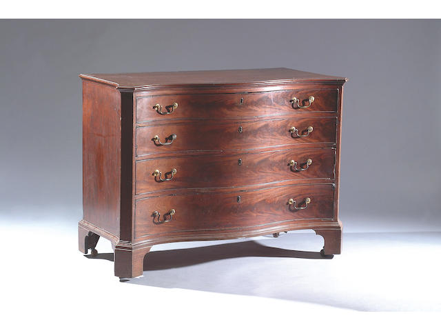 A George III mahogany Serpentine chest,