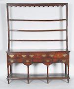 A George III South Wales oak dresser