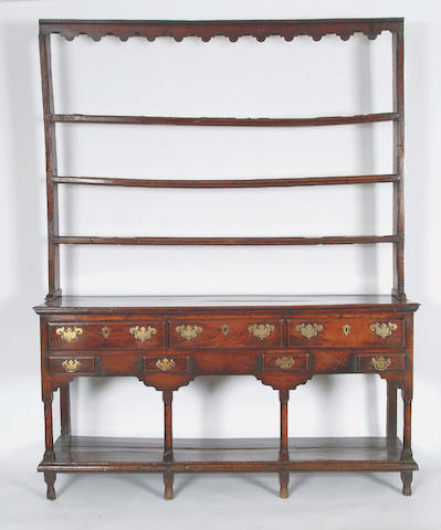 A George III South Wales oak dresser