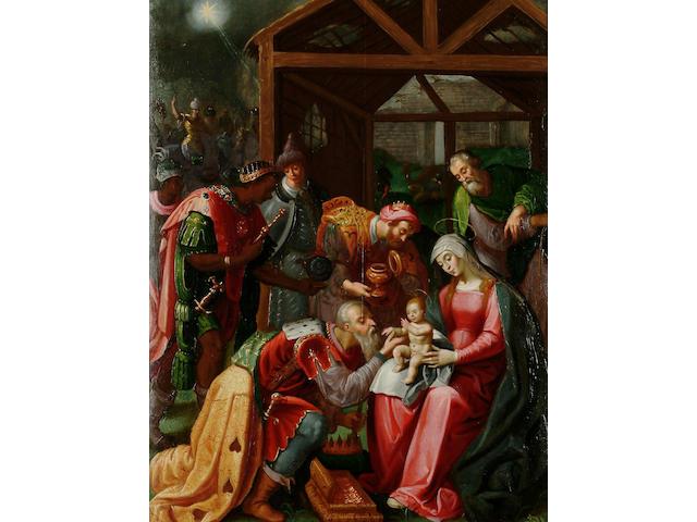 Flemish School, 16th Century The Adoration of the Magi, 67 x 50 cm