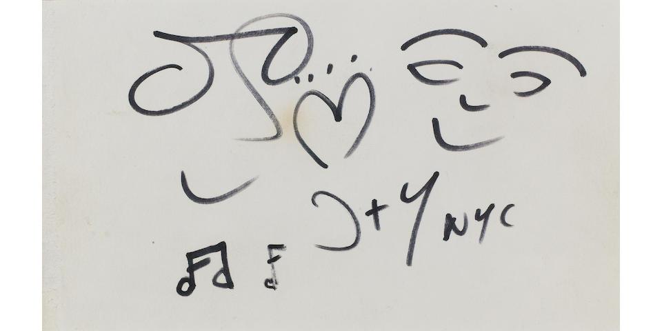 A John Lennon drawing, 1980,