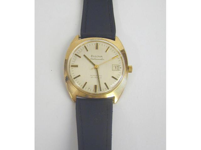 Bulova Ambassador - a gentleman's 9 carat gold automatic wristwatch,