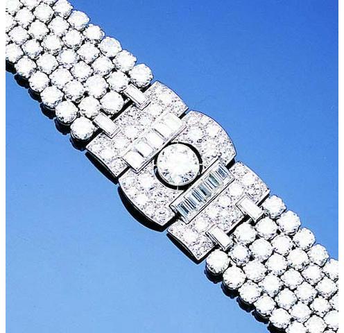 An art deco diamond bracelet by Drayson