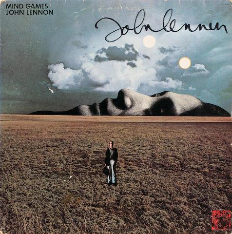 Bonhams A Copy Of The Mind Games Album Autographed By John Lennon