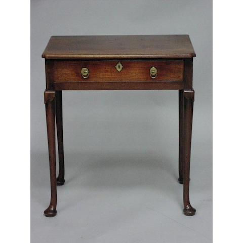 A good George II walnut side table,