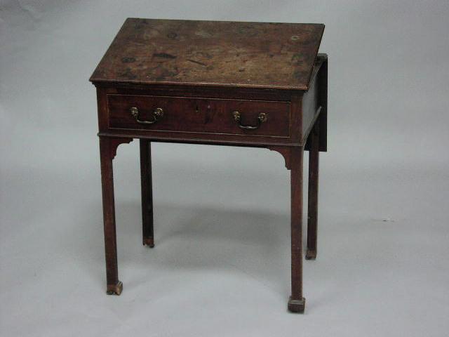 A good George III mahogany architect's table,