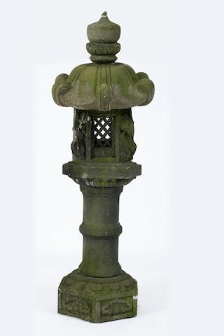 A 19th Century Oriental granite garden lantern,