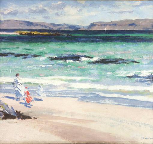 Francis Campbell Boileau Cadell RSA RSW (1883-1937) Iona 37 x 44.5cm (14 1/2 x 17 1/2ins)