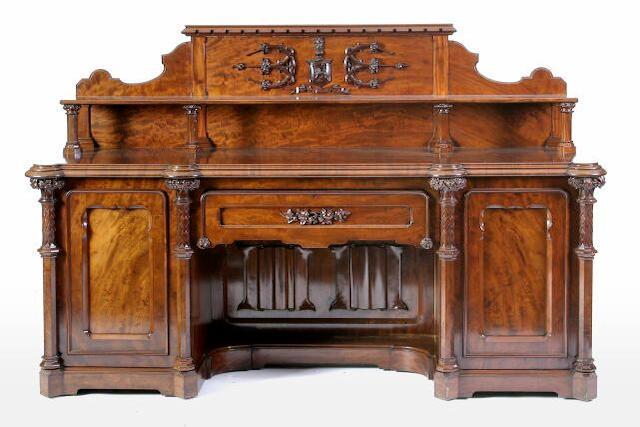 A Victorian mahogany sideboard,