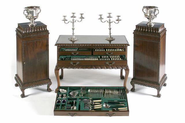 A comprehensive canteen of Old English pattern flatware and cutlery, by Walker and Hall, Sheffield 1931/32/34,