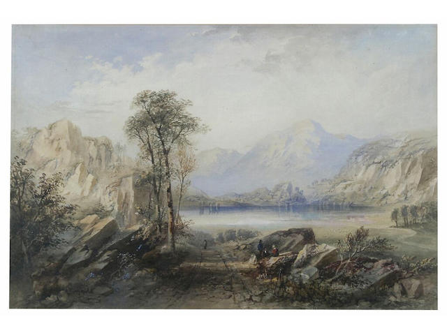 Attributed to Cornelius Pearson 'Loch Katrine', 51 x 76cm.