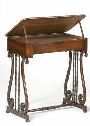 A 19th Century mahogany and ebony inlaid work table,