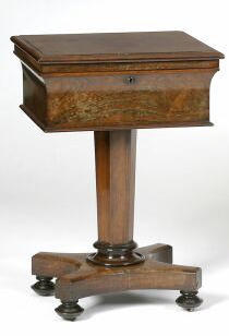 An early Victorian rosewood teapoy,
