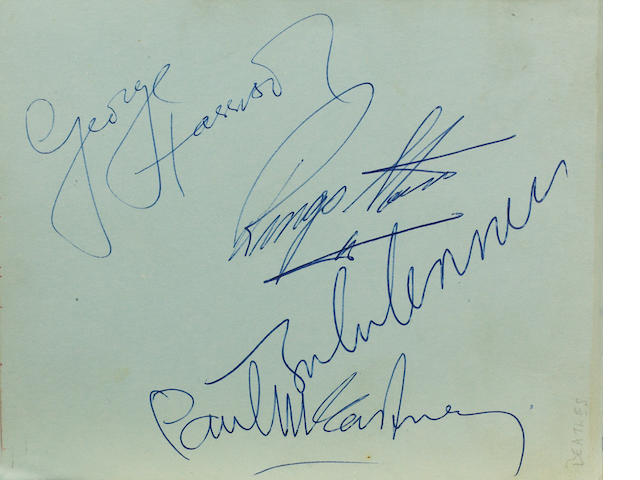 A collection of 1960s' autographs,