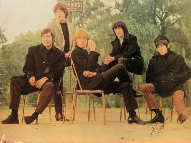 A good autographed Rolling Stones concert programme, 1965,