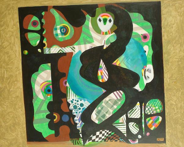 Eileen Agar (British, 1899-1991) Untitled unframed 102 x 126cm.