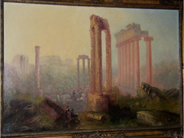 J** G** Sydney Herbert (19th Century) British The ruins of Romesigned 'J.G. Sydney Herbert', oil on canvas, 61 x 92cm (24 x 36in)