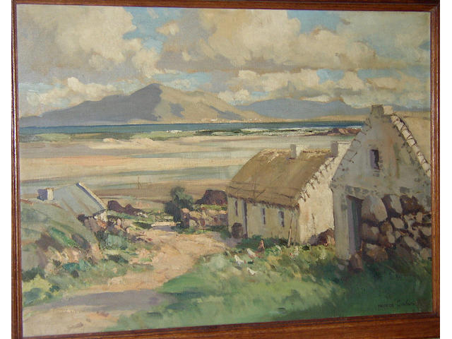 Maurice Canning Wilks RUA, ARHA (1910-1984) British 'At Mulrany, Co. Mayo'signed 'Maurice C. Wilks', titled on stretcher, oil on canvas, 51 x 69cm (20 x 27in)