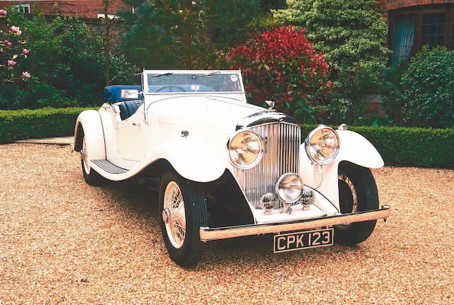 Formerly the property of World Land Speed Record Holder, Capt. George Eyston,1935 Bentley 3 1/2 litre Sports Two Seater Tourer B24DG