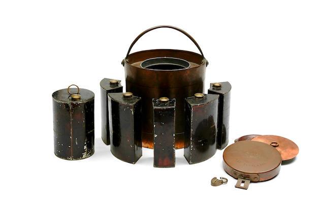 A Walker Patent Cylindrical Gunpowder Magazine
