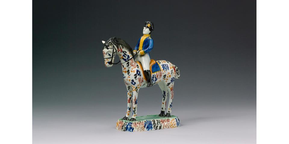 A fine Pratt Ware equestrian model circa 1810