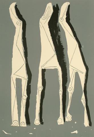 Marino Marini (Italian, 1901-1980) Les Trois Chevaux 61 x 42cm. (image)