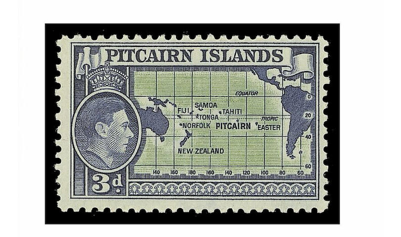 Pitcairn Islands: 1940-51 3d. variety wmk. inverted fine mint, very scarce. (694)