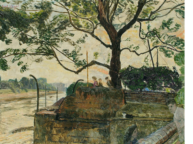 Carel Weight (British, 1908-1997) 'From Julian Trevelyan's Garden' 43 x 55cm.