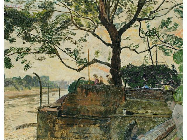 Carel Weight (British, 1908-1997) 'From Julian Trevelyan's Garden' 17 x 21 1/2 in. (43 x 55cm.)