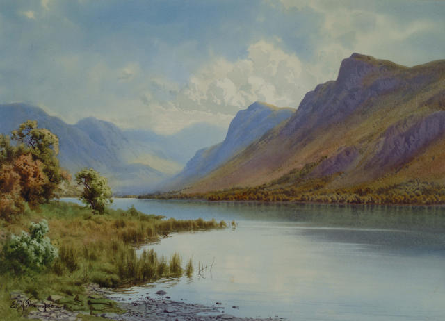 Edward H Thompson (1866-1949) 'Wastwater' 26 x 36cm (10 1/4 x 14in)