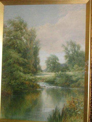Edmund Phipps 'A view in Hampshire', 66 x 48.5cm.