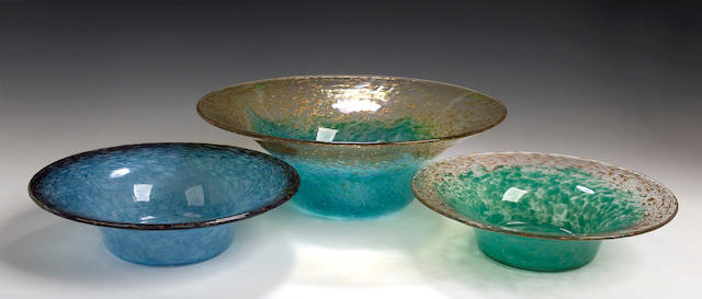 A large Monart Bowl, shape UB,