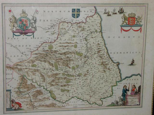 Blaeu (Joan) Episcolpatus Dunelmensis, vulgo, The Bishoprike of Durham, 38 x 49cm.