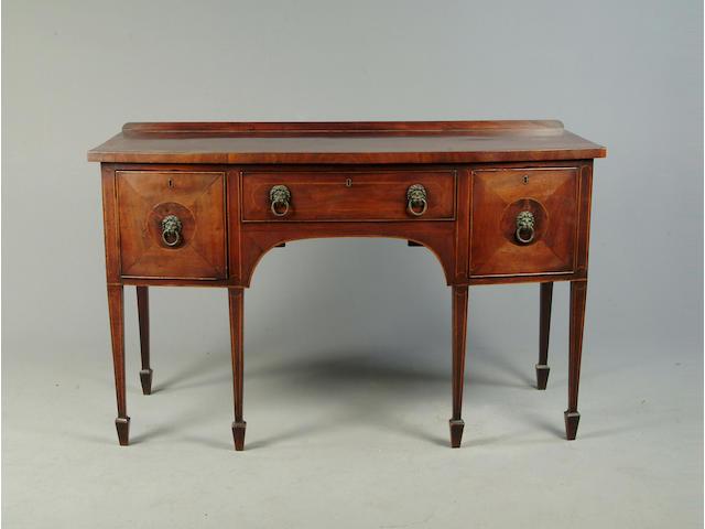 A George III mahogany bowfront sideboard