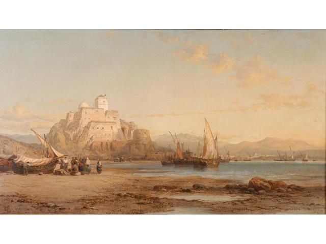 James Webb (1825-1895) 'Carthagena' 60 x 104cm (23 1/2 x 41in)