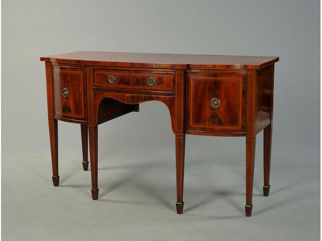Geroge III style mahogany sideboard of breakfront form
