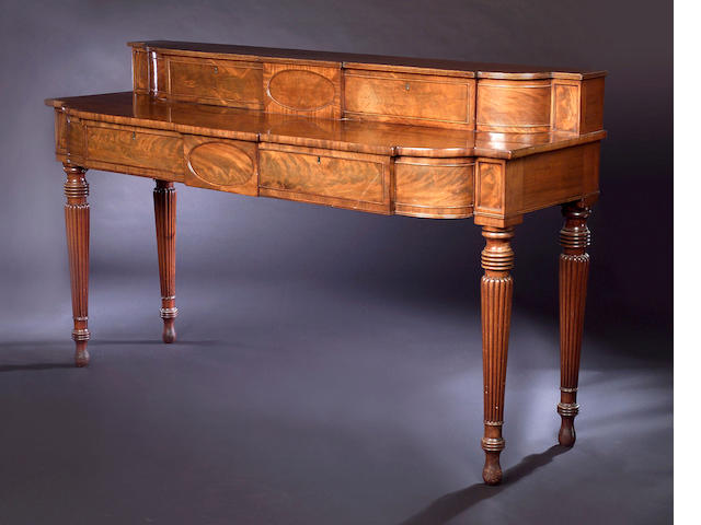 A Regency mahogany breakfront Serving Table,