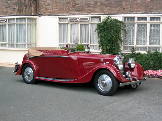 The ex-Albert Finney,1935 Bentley 3½-Litre Three-Position Drophead Coupe  Chassis no. B200DG Engine no. L2BR
