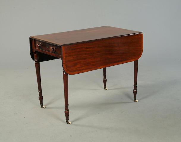 A Regency mahogany Pembroke table