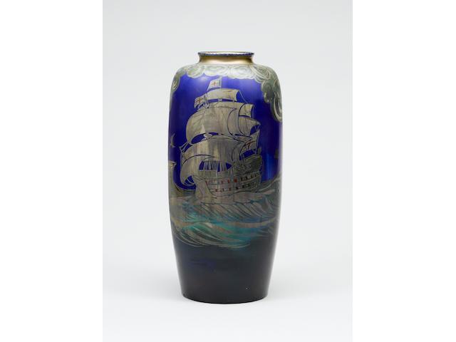 William S Mycock, circa 1935 A Lustre Vase