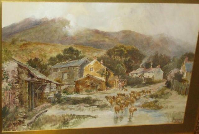 Thomas Greenhalgh 'Applethwaite near Keswick', 48.5 x 69cm.
