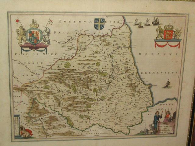 Speed (John) The Bishoprick and Citie of Durham, 39 x 51cm.