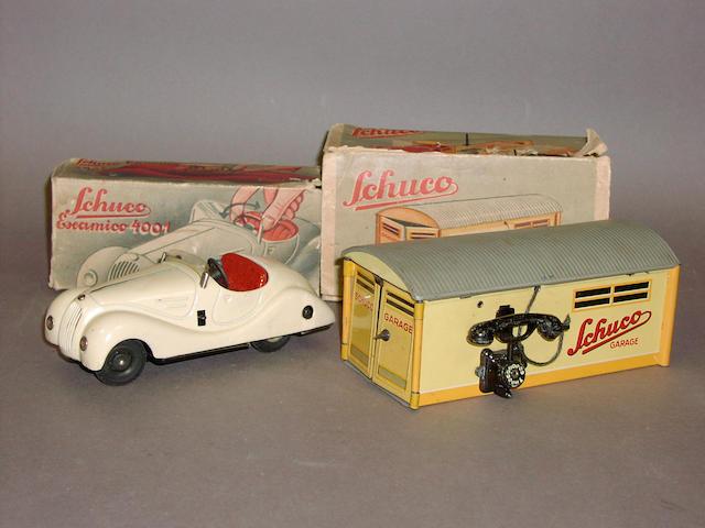 Schuco (pre-war) 4001 Examico and 1500 Garage 2