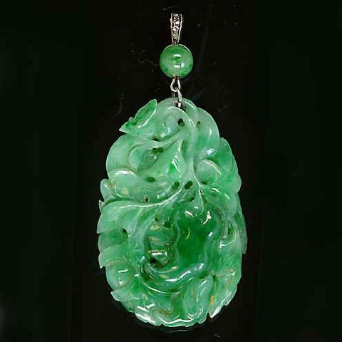 A jadeite pendant,