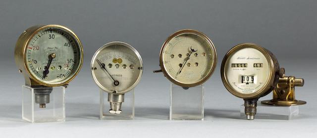 Eleven assorted speedometers,