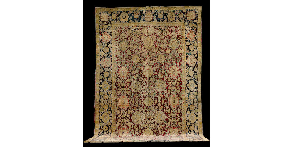 An Agra carpet North India, 18 ft 11 in x 10 ft 8 in (577 x 324 cm)