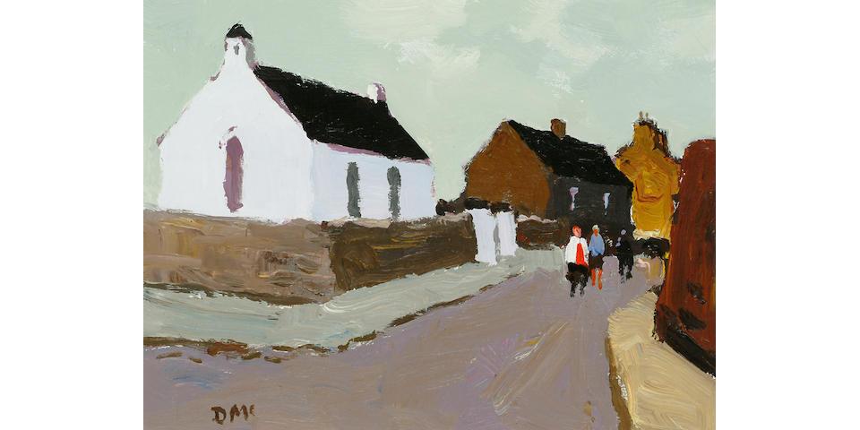 Donald McIntyre (British, b.1923) Little White Church 11 3/4 x 16 in. (30 x 40.5cm.)